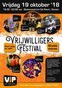 vrijdag 19 oktober, Vrijwilligersfestival De Wolden @ Buitencentrum De Poort  | Ruinen | Drenthe | Nederland